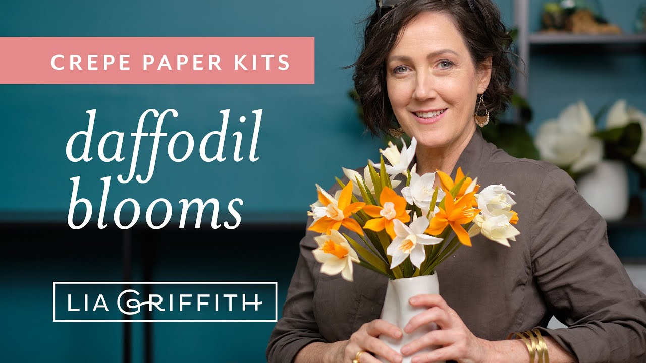 Video Tutorial: Crepe Paper Daffodil Kit