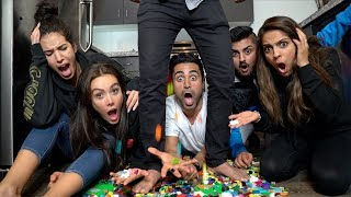 CRAZY LEGO CHALLENGE (MOST PAINFUL THING EVER) !!!