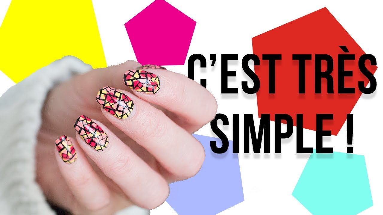 70e97e7eb6d569 NAIL ART  C EST TRES SIMPLE 🤷🏼 ♀ - Cecile Anna - YouTube