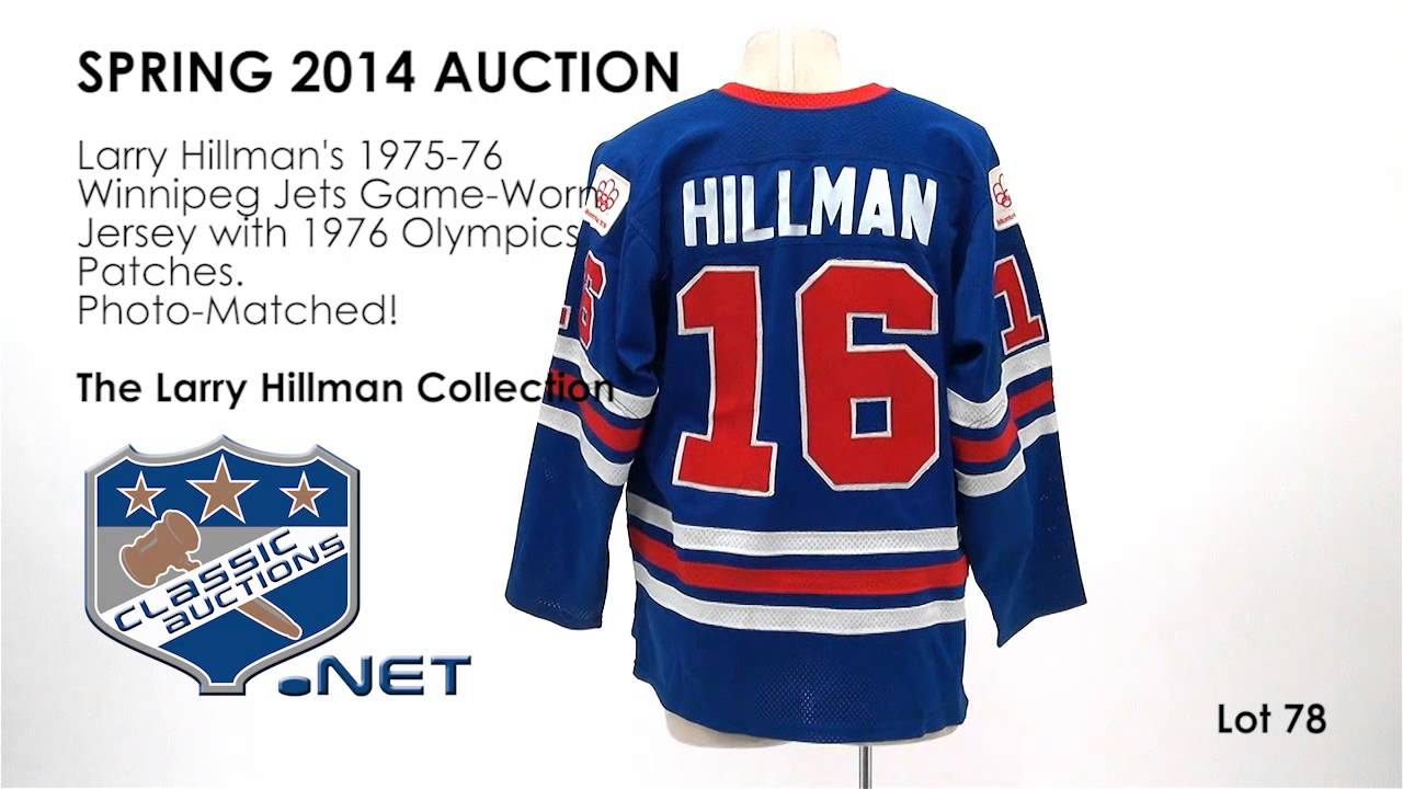 competitive price d9c9c 4eba7 Larry Hillman's 1975-76 Winnipeg Jets Game-Worn Jersey with 1976 Olympics  Patches - Photo-Matched!