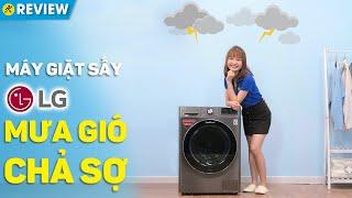 Máy giặt sấy LG Inverter: Giặt sấy tiện lợi, giặt nhanh TurboWash 360 (FV1450H2B)  • Điện máy XANH