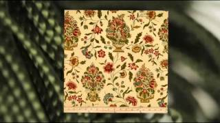 Rocking Chair Cushion Set - Eugene Antique Floral - Jumbo Tufted Seat Cushion And Back Cushion -