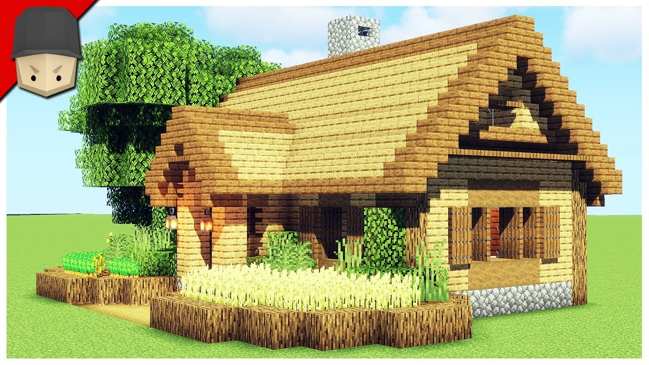 How to Build a Starter House in Minecraft (Minecraft House Tutorial)