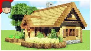 How to Build a Starter House in Minecraft Minecraft House Tutorial YouTube