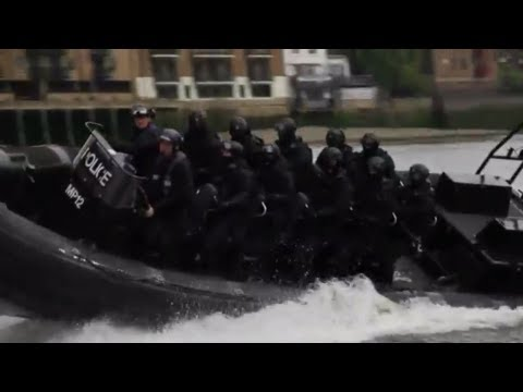 London Armed Police High Speed Boat Chase Olympic Training 2012 Carjam TV HD