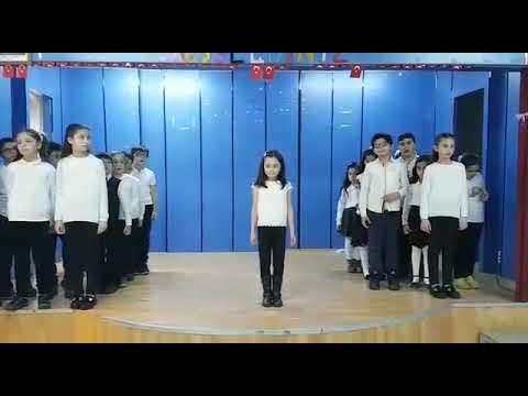 Yıldıztepe ilkokulu öğrencileri Benim adım öğretmen işaret diliyle (Fatma ŞENER)