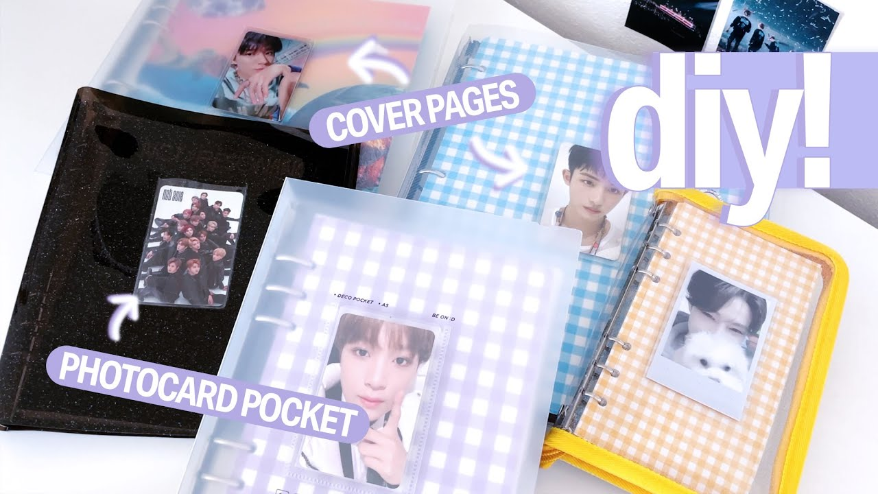 Decorate With Me ☆ How To Add a Photocard Pocket to any K-pop Photocard Binder + Making Cover Pages!