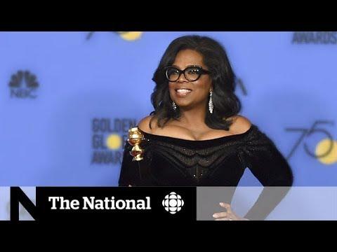 Oprah's Golden Globe speech prompts presidential push