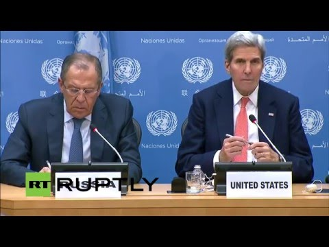 LIVE: Lavrov and Kerry give press statement following UN crisis talks on Syria