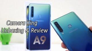 Samsung A9 (2018) Quad Camera Phone Unboxing & Full review !! HINDI