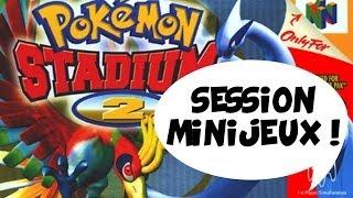 Minijeux Pokémon Stadium 2 avec Xari - Jiraya - Dach - Max !