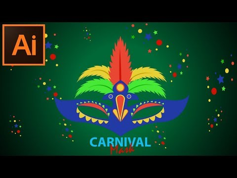 How to Make a Carnival Mask  in Adobe Illustrator CC