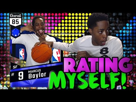 RATING MYSELF IN NBA 2K17! Please dont roast me...
