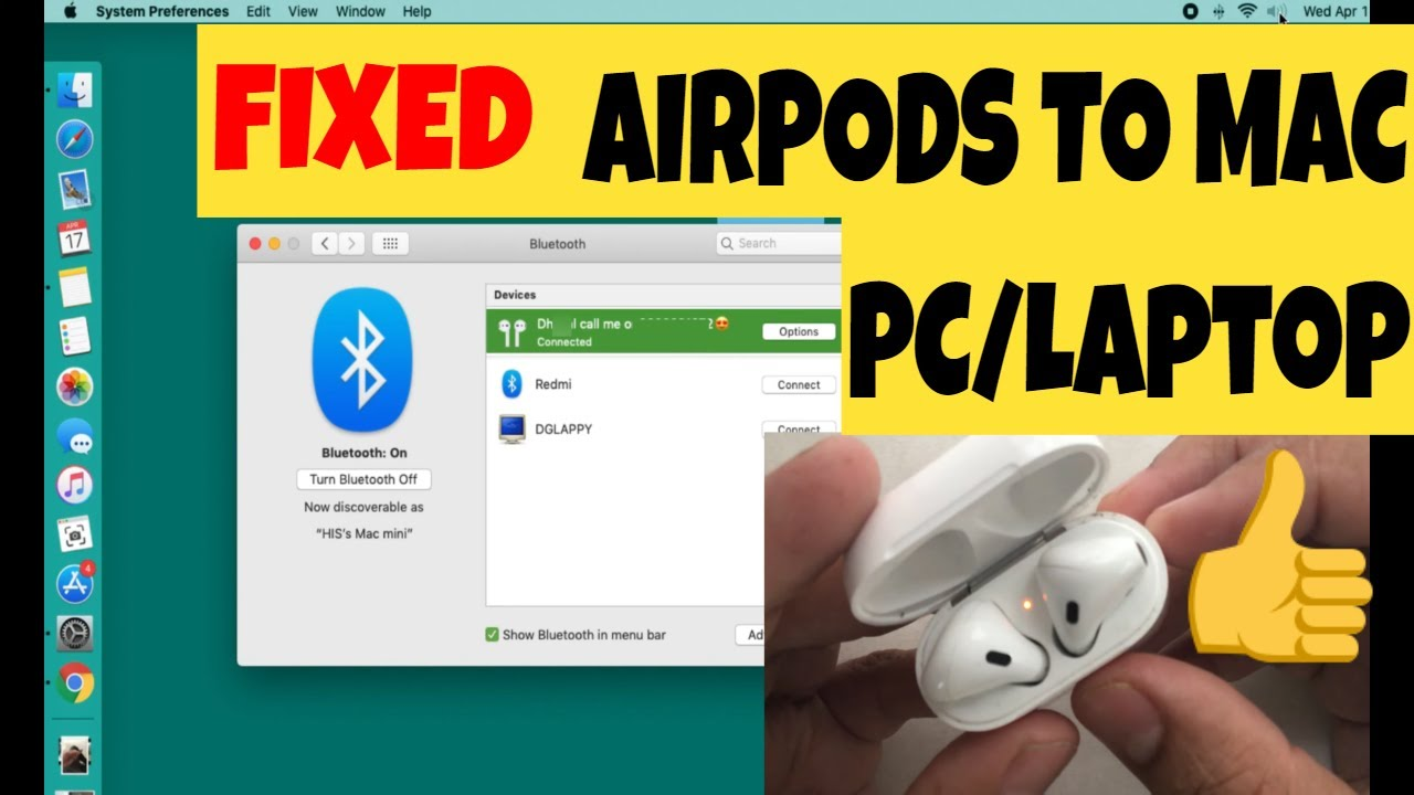 how to connect airpods to macbook youtube