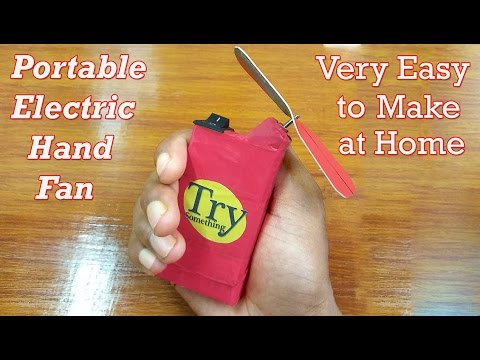 electric hand fan. how to make electric hand/pocket fan hand