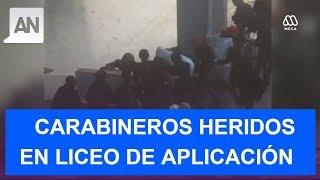 Liceo de Aplicación: Atacan a carabineros con bombas molotov