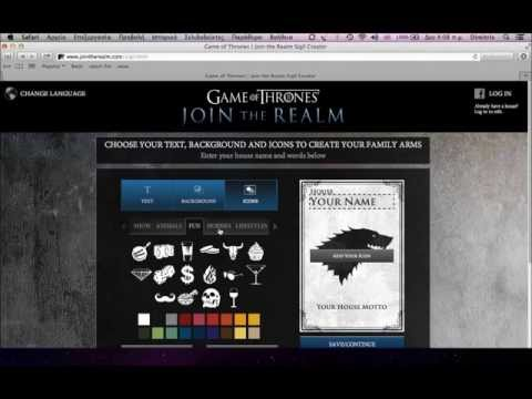 Create Your Own Game Of Thrones House Sigil