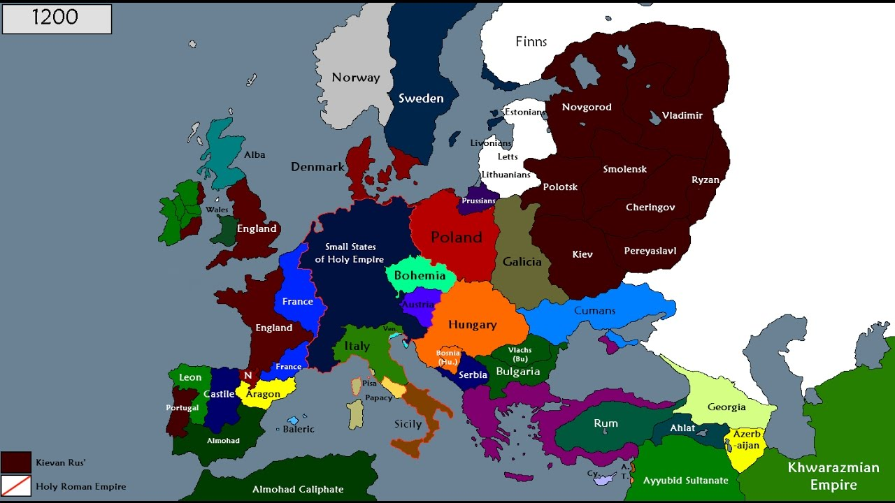 History Of Europe 800 1200 Youtube