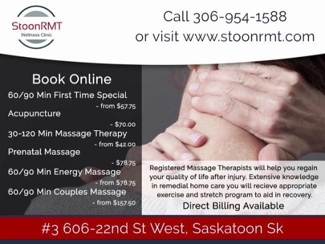 Saskatoon Massage Therapy & Acupuncture StoonRMT