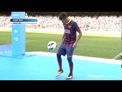 Barcelona unveil Neymar at Nou Camp