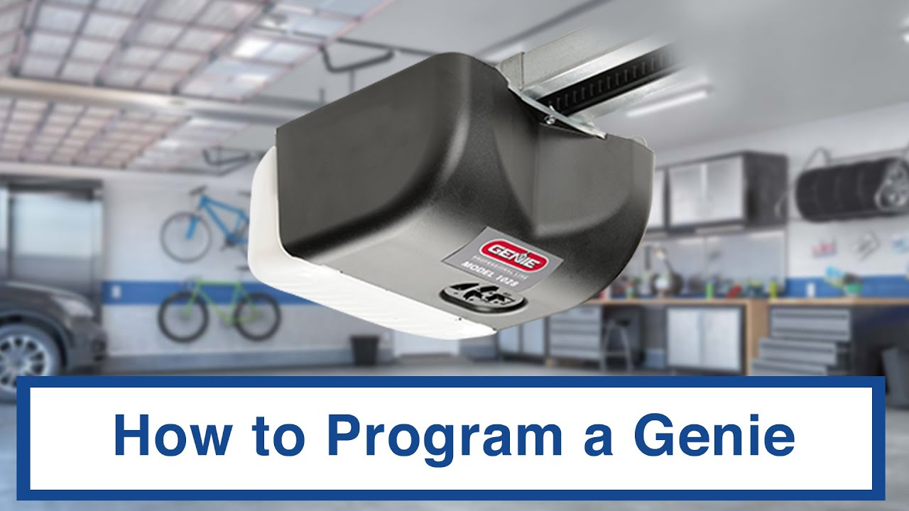 How To Program A Genie Remote Easy Lift Door Company