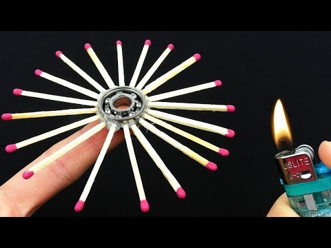 How To Make Fidget Spinner Out of Matches