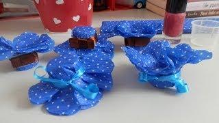 Repeat youtube video Forminhas para docinhos - Com papel crepom