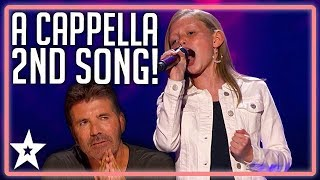 Simon Cowell Gives Ansley Burns Another Chance!   America's Got Talent 2019   Kids Got Talent