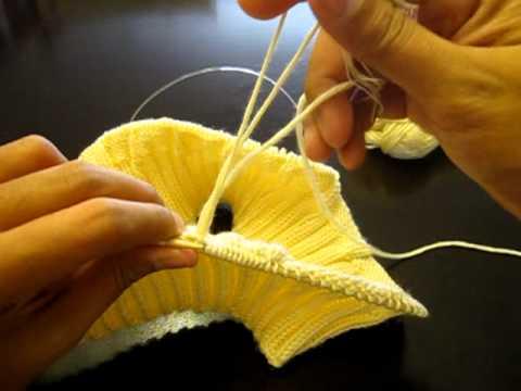 How to connect a new yarn  วิธีการเชื่อม(ต่อ)ไหมพรม