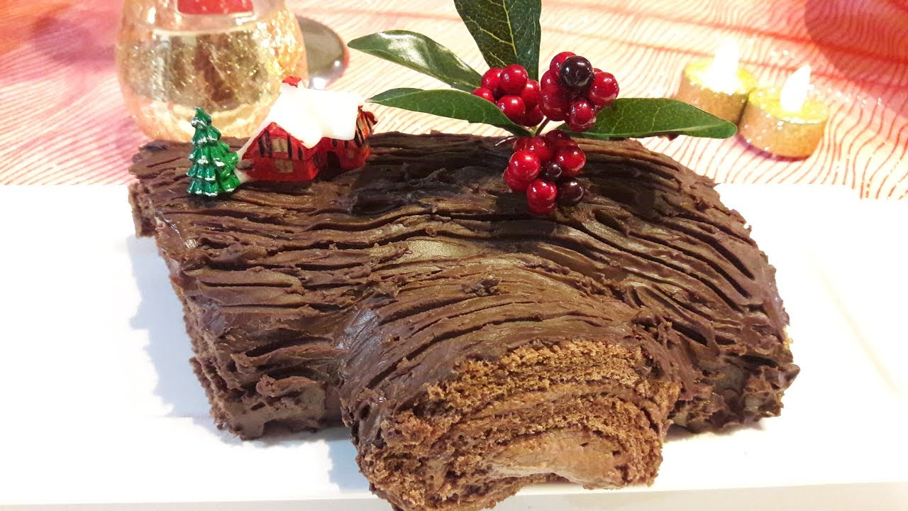 Christmas Yule Log Cake - YouTube