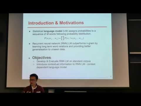Neural Network Language Model, Bing Liu, Yingrui Zhang