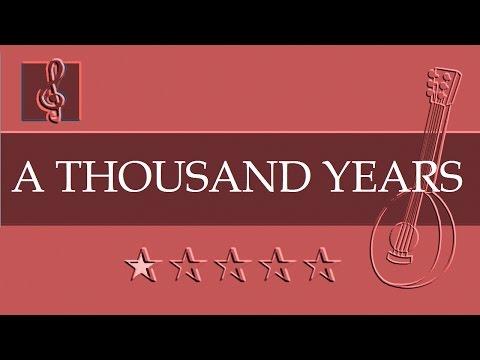 Mandolin TAB - A Thousand Years - Christina Perri (Sheet music)