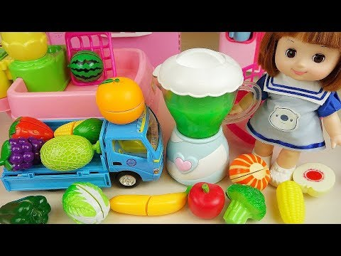 Thumbnail: Baby doll fruit vegetable juice maker cooking toys baby doli play