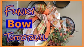 Learn How To Make A Ribbon Bow Tutorial / Easy Steps / Funky Bow DIY (Three Different Ways)