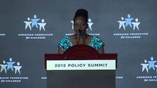Summit 2013 Speech: School Choice Student, Denisha Werriweather