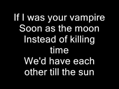 Marilyn Manson-If I was your Vampire (Lyrics)