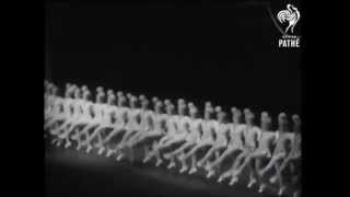 Tiller Girls at the Royal Variety Show 1948 (no sound)