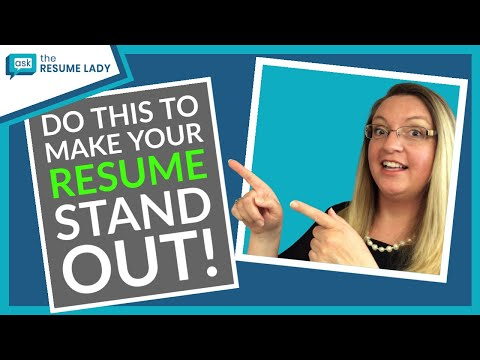 The Secret To Making Your Resume Stand Out! | Advice From Ask The Resume Lady | Resume Advice