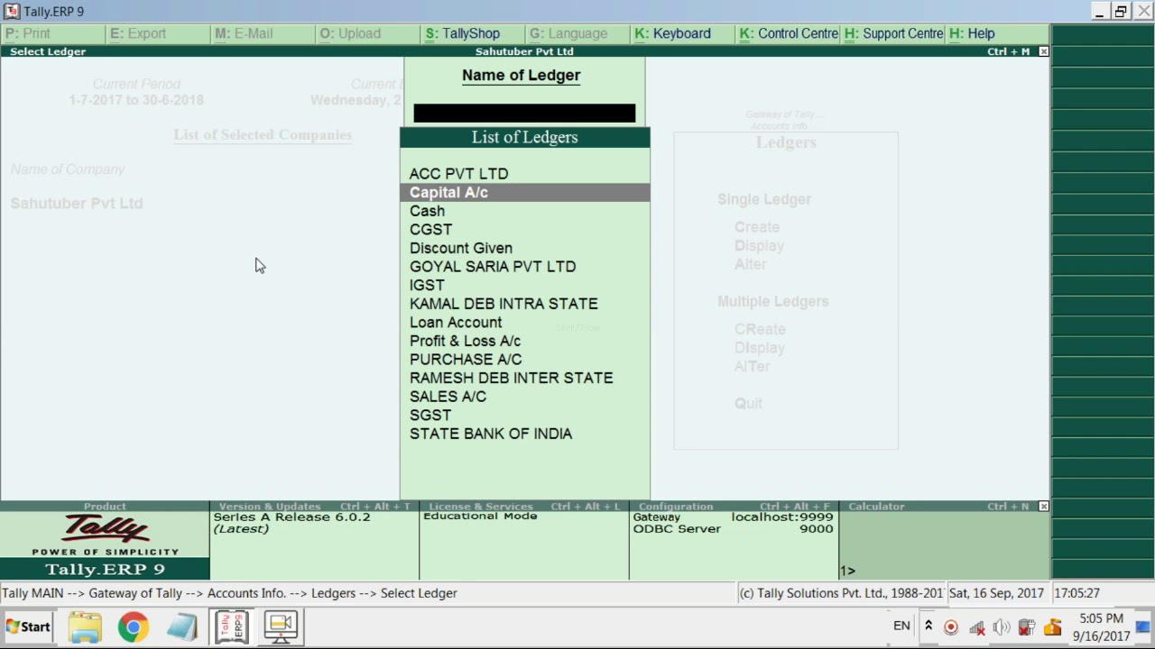 BANK TRANSACTION ENTRY IN TALLY ERP-9