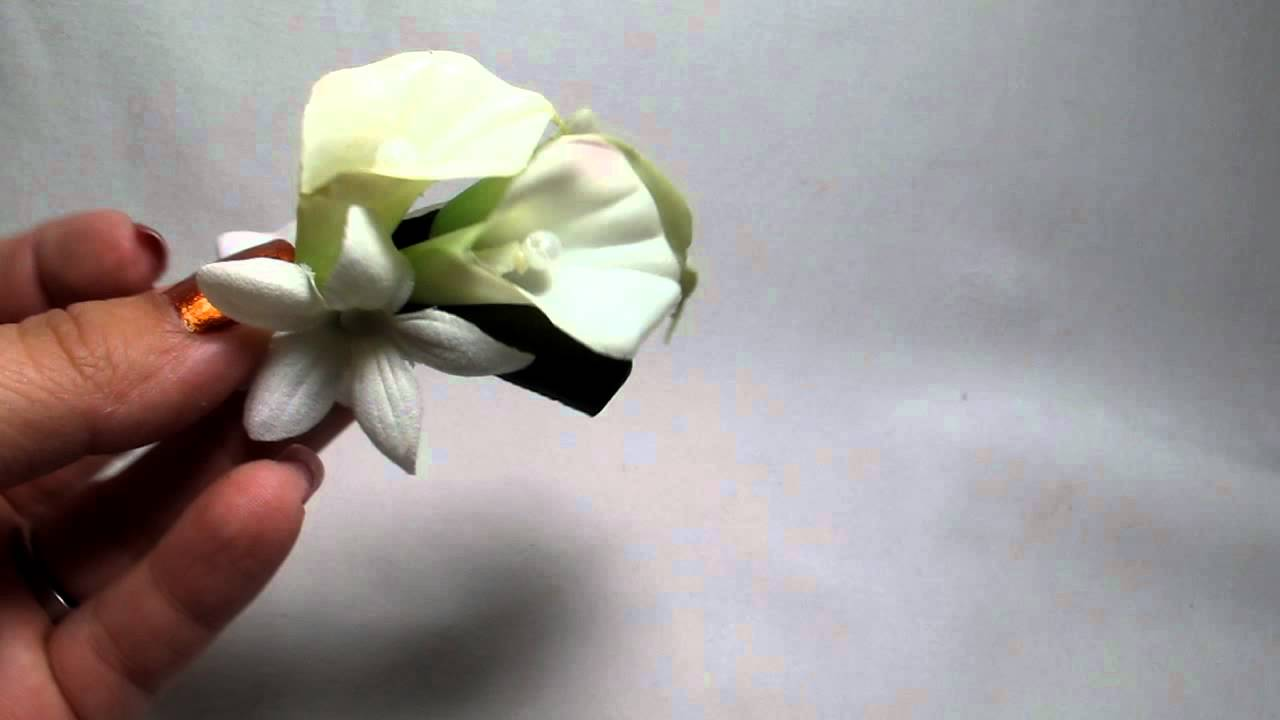 Small white calla lily hair flower clip by hairflowers small white calla lily hair flower clip by hairflowers izmirmasajfo