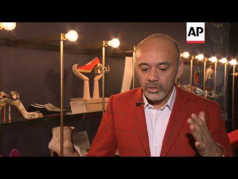 Renowned French shoe designer Christian Louboutin opens a major retrospective exhibition in London