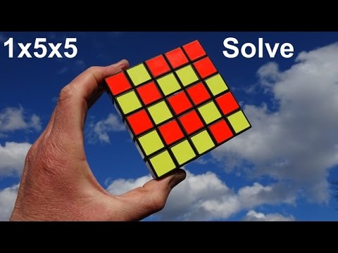 Solving my Impossible 1x5x5 Cuboid (AKA Tony Fisher's Professor Floppy Cube puzzle)