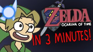 The Legend of Zelda Ocarina of Time in 3 Minutes! | ArcadeCloud