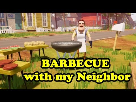 Having a BARBECUE with my Neighbor
