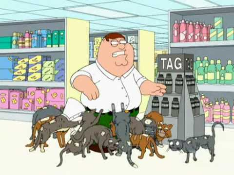 Peter tries Tag Bodyspray for cats