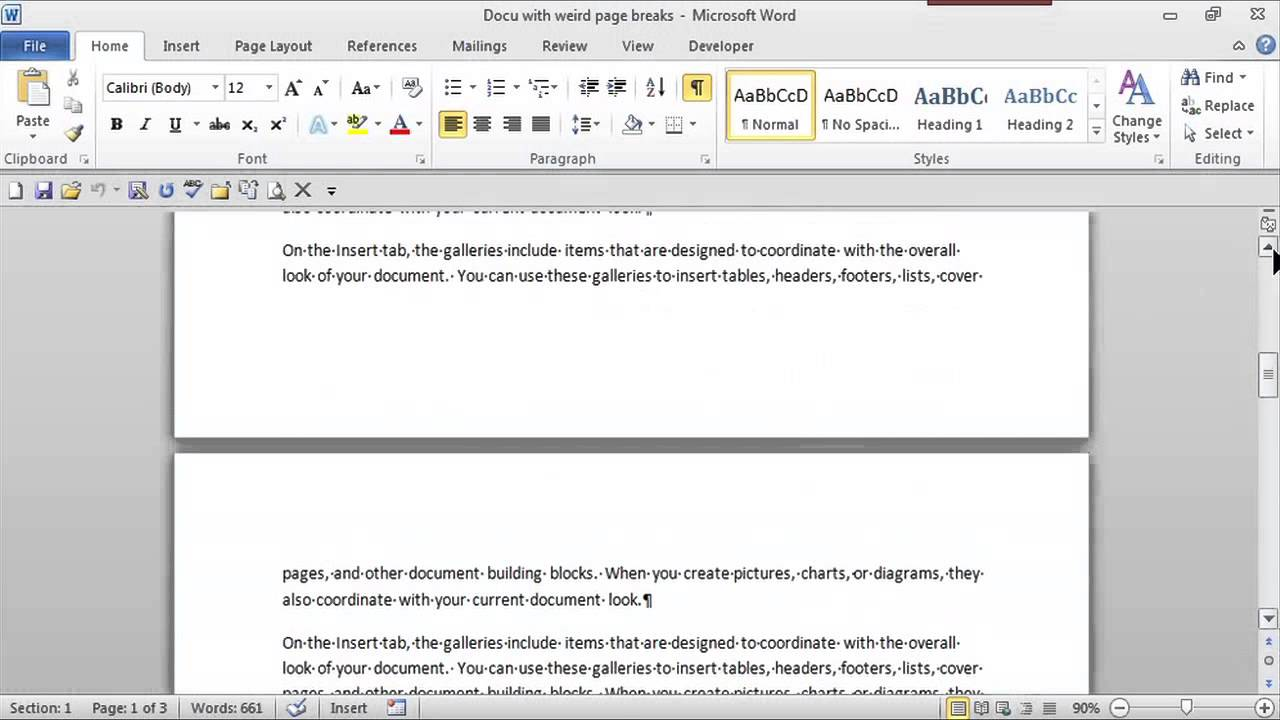How to Remove Paragraph Breaks & Keep Spaces Between Paragraphs : MS Word  Skills