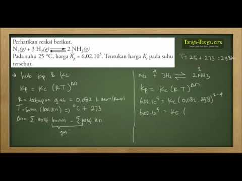 Belajar Kimia : Materi dan Contoh Soal Reaksi Kesetimbangan Part 3