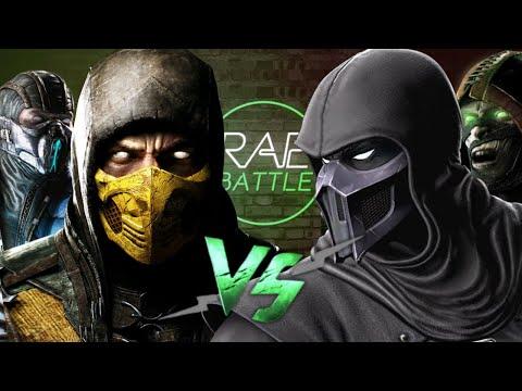 Рэп Баттл 2x2 - Скорпион & Саб-Зиро Vs. Нуб Сайбот & Ермак (Scorpion Sub-Zero Vs. Noob Saibot Ermac)