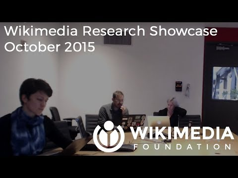 Wikimedia Research Showcase - October 2015