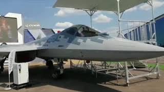 Cận cảnh tiêm kích Su-57 tại MAKS 2021